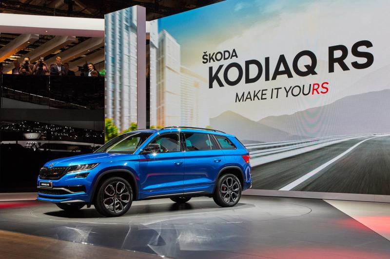 WeltPremiere SKODA KODIAQ RS Paris 2018
