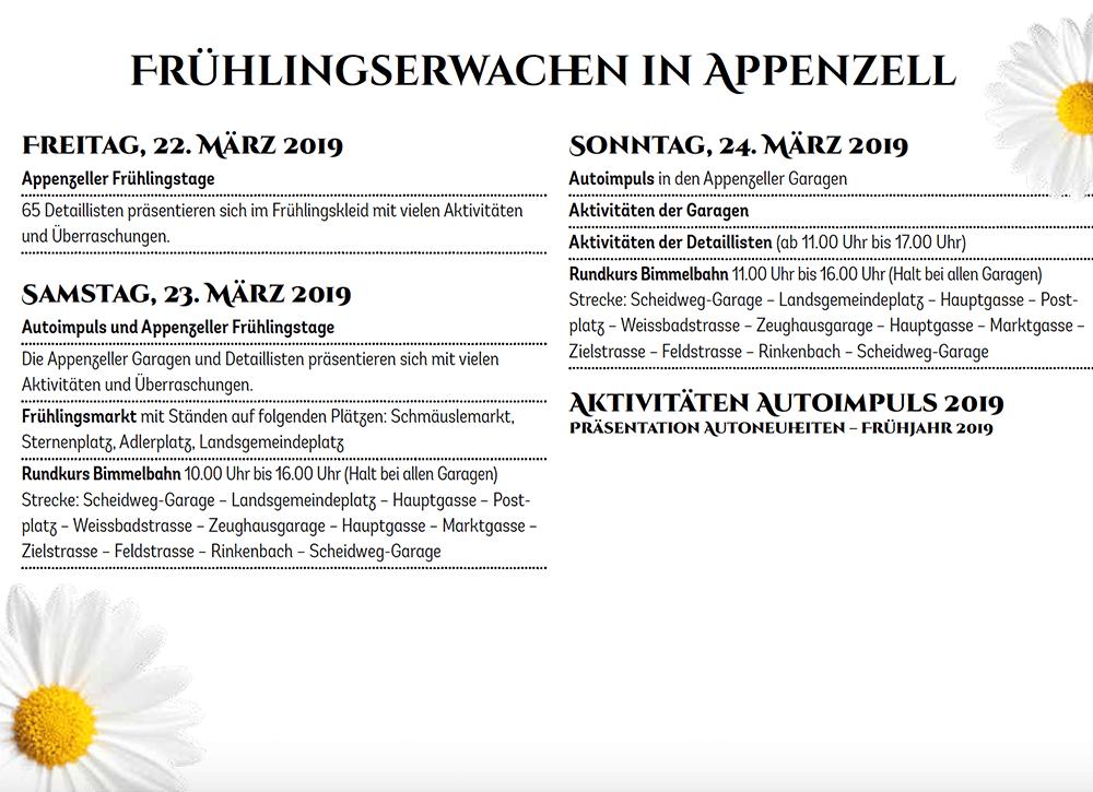 Appenzeller Frühlingstage 2019