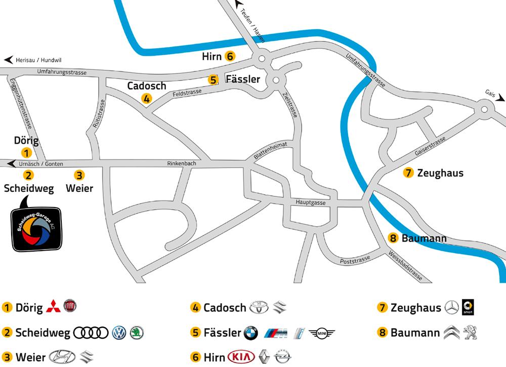 AutoImpuls 2019 Rundgang/ Plan Scheidweg-Garage AG